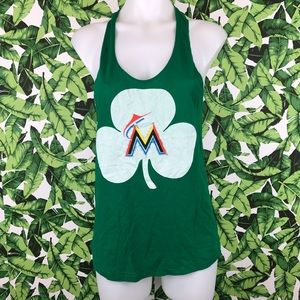 5 for $25 PINK VS Marlins St Patricks Shamrock Top